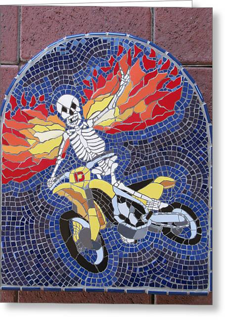 Winged Ceramics Greeting Cards - Dirt Peace Greeting Card by Pj Flagg Tongue in Chic