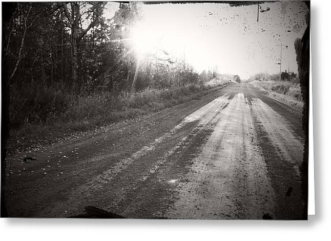 Dirt Road Greeting Card by Allison Tilberg