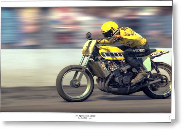 Yamaha Greeting Cards - Dirt SPEED Greeting Card by Lar Matre