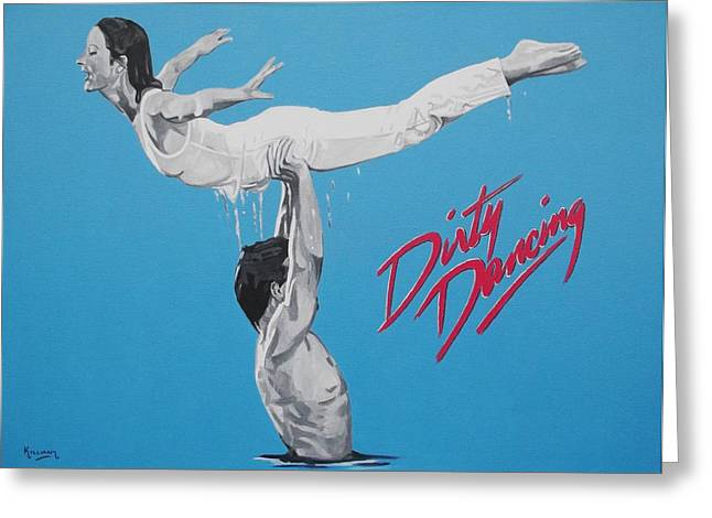 Movie Art Greeting Cards - Dirty Dancing The Lift Greeting Card by Patrick Killian