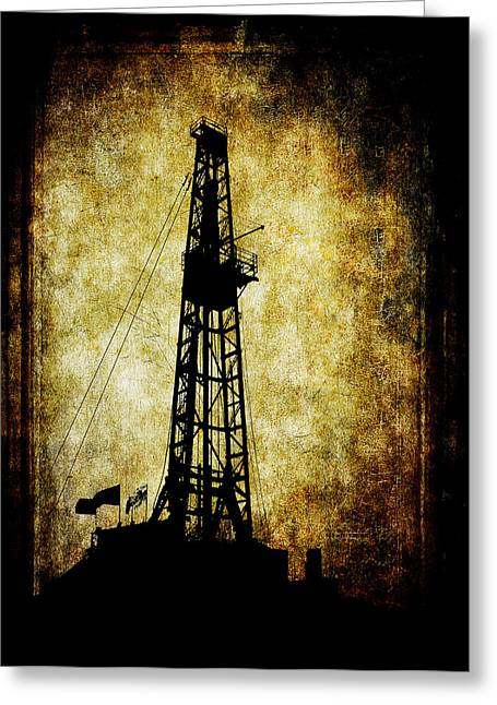 Geology Digital Art Greeting Cards - Dirty Derrick Greeting Card by Daniel Hagerman