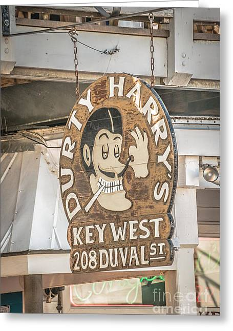 Dirty Harry's Key West - Hdr Style Greeting Card by Ian Monk