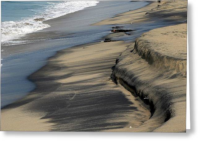 Coast Highway One Greeting Cards - Dirty Sand Greeting Card by Jeff Lowe