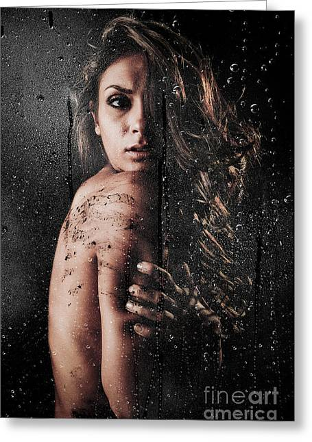 Female Body Greeting Cards - Dirty Shower Greeting Card by Jt PhotoDesign