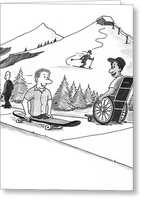 Disability Drawings Greeting Cards - Disability Ability Greeting Card by Lee Serenethos