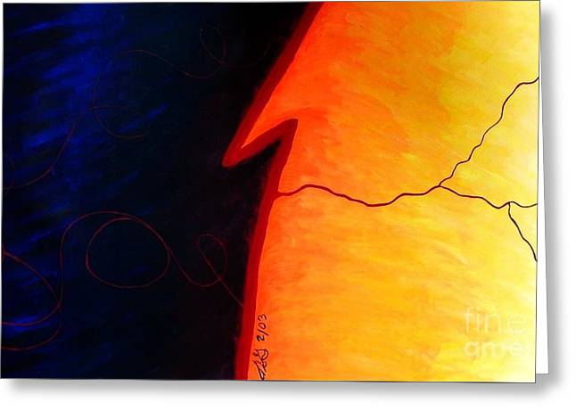 Disability Paintings Greeting Cards - Disability Greeting Card by Teresa St George