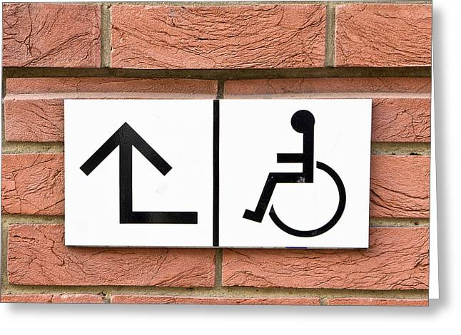 Disability Greeting Cards - Disabled sign Greeting Card by Tom Gowanlock