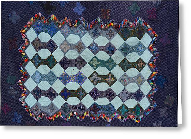 White Tapestries - Textiles Greeting Cards - Disappearing Birds Greeting Card by Nancy Mauerman