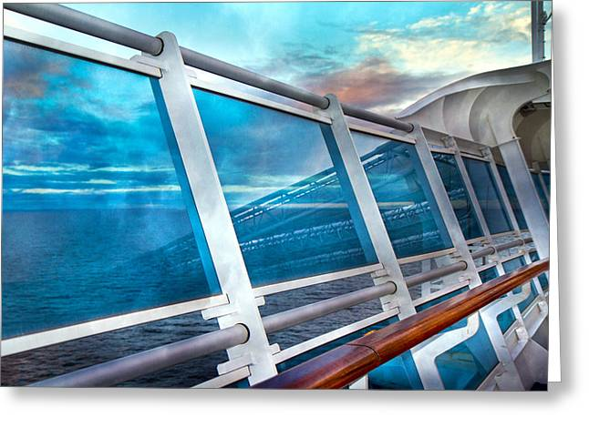 Glass Wall Photographs Greeting Cards - Disappearing into the Sea Greeting Card by Betsy C  Knapp