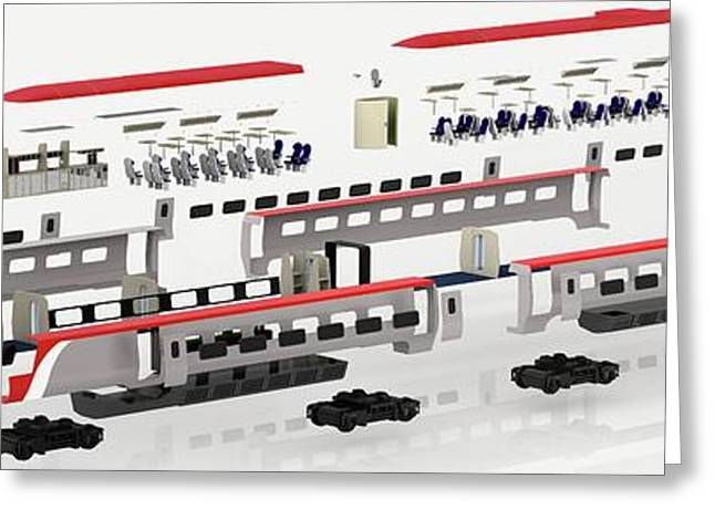 Disassembled Parts Of High-speed Train Greeting Card by Dorling Kindersley/uig