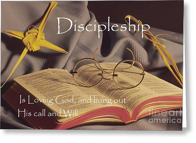 Recently Sold -  - Glass Wall Greeting Cards - Discipleship Greeting Card by Sharon Elliott