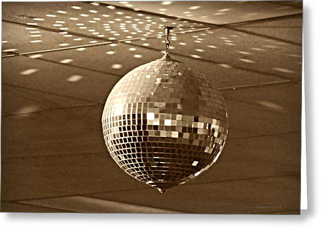 Antique Skates Greeting Cards - Disco Ball Greeting Card by Brenda Conrad