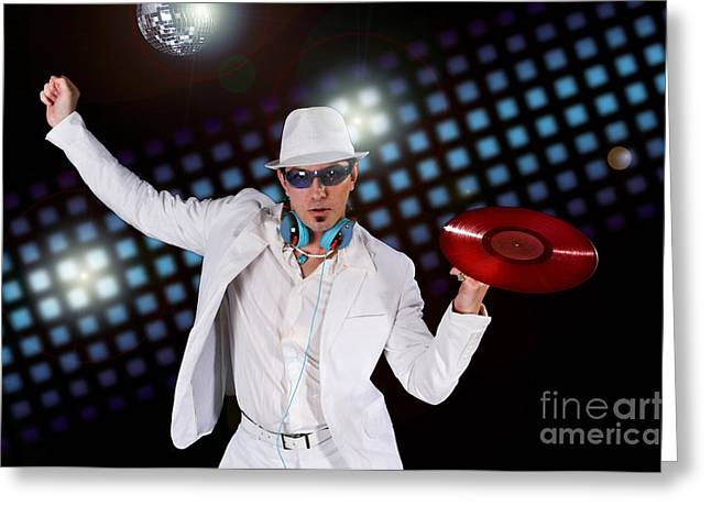 Enjoying Greeting Cards - Disco DJ Greeting Card by Jt PhotoDesign