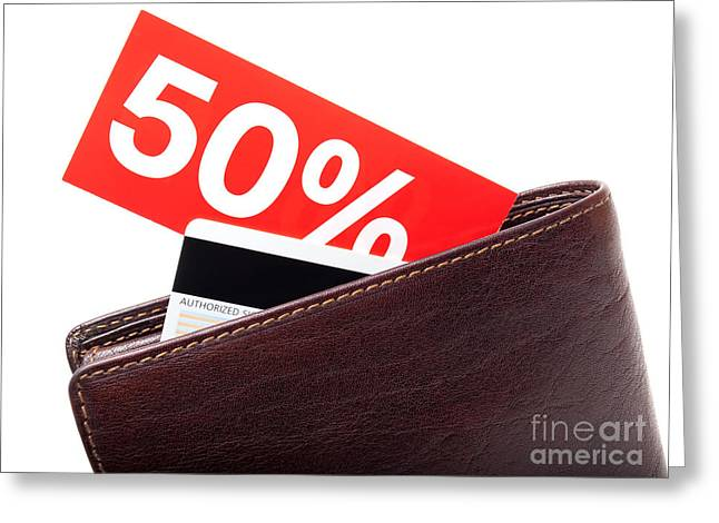 Cardboard Greeting Cards - Discount wallet Greeting Card by Sinisa Botas