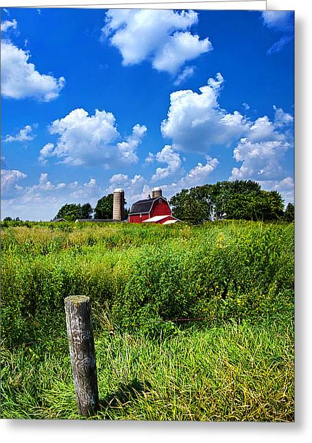 Barn Landscape Photographs Greeting Cards - Discover Wisconsin Greeting Card by Phil Koch