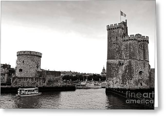 Medieval Entrance Greeting Cards - Discovering La Rochelle Greeting Card by Olivier Le Queinec