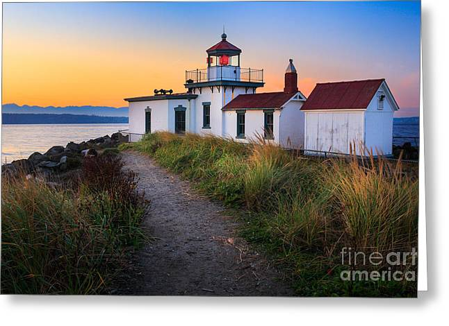Discovery Lighthouse Greeting Card by Inge Johnsson