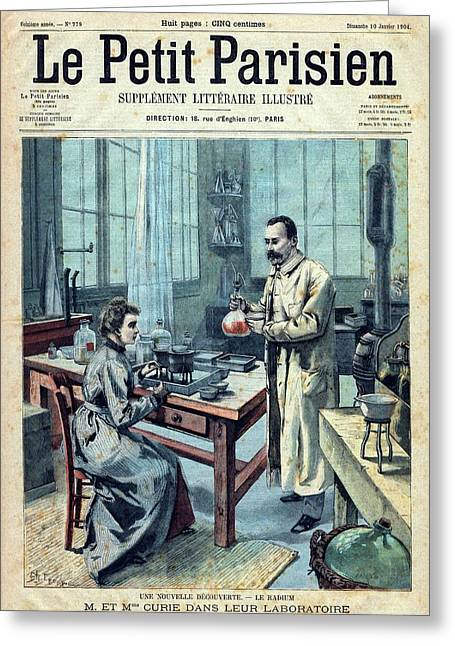 Discovery Of Radium By The Curies Greeting Card by National Library Of Medicine