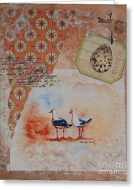 Nature Study Mixed Media Greeting Cards - Discovery  Greeting Card by Tamyra Crossley