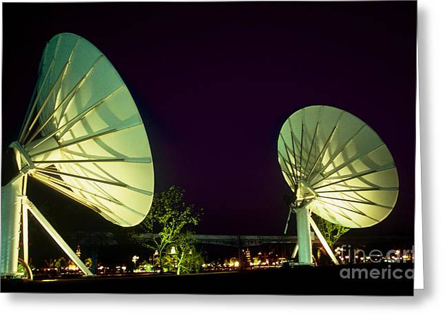 Epcot Center Greeting Cards - Dish Antennas Greeting Card by Van D. Bucher