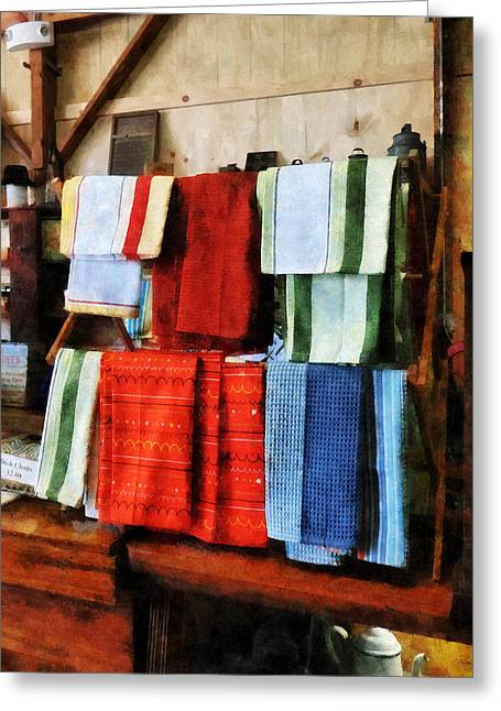 Dish Cloths For Sale Greeting Card by Susan Savad