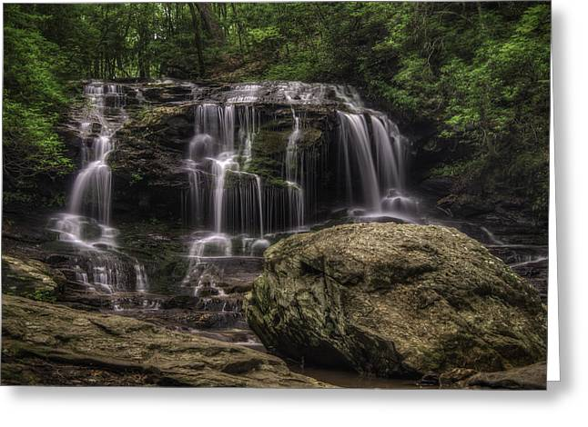 Canoe Waterfall Photographs Greeting Cards - Disharoon Creek Lower Falls II Greeting Card by Charles Stackpole