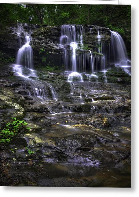 Canoe Waterfall Photographs Greeting Cards - Disharoon Creek Lower Falls III Greeting Card by Charles Stackpole