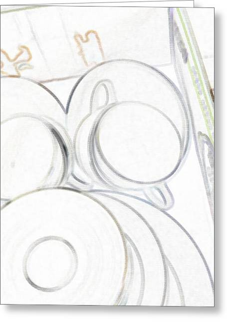 Stack Mixed Media Greeting Cards - Dishes Dear Greeting Card by Billy Cooper Rice