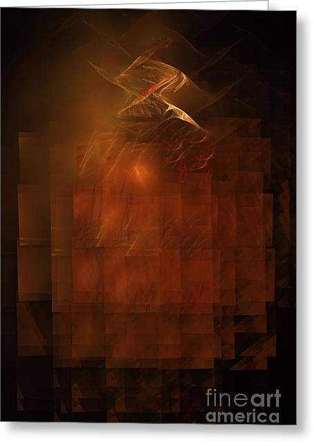 Abstract Digital Light Trails Greeting Cards - Disintegration  Greeting Card by Elizabeth McTaggart