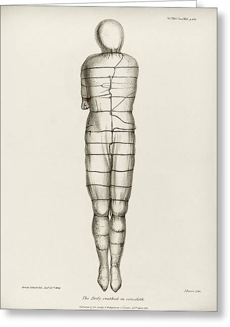 Disinterred 15th-century Body Greeting Card by Middle Temple Library