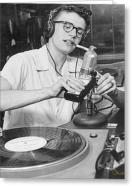 Announcer Greeting Cards - Disk Jockey - 1950 Greeting Card by Chuck Staley