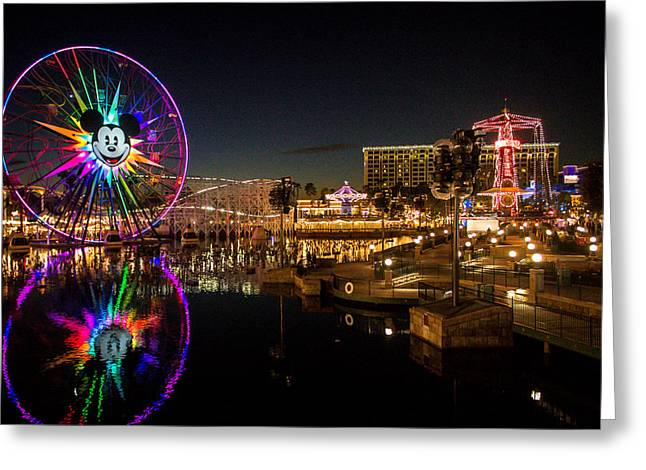 Disney California Adventure Mickey's Fun Wheel Greeting Card by Anthony Duty