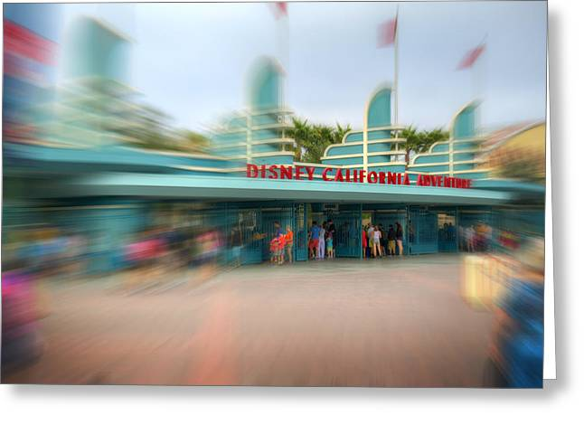 Anaheim California Greeting Cards - Disney California Adventure Greeting Card by Ricky Barnard