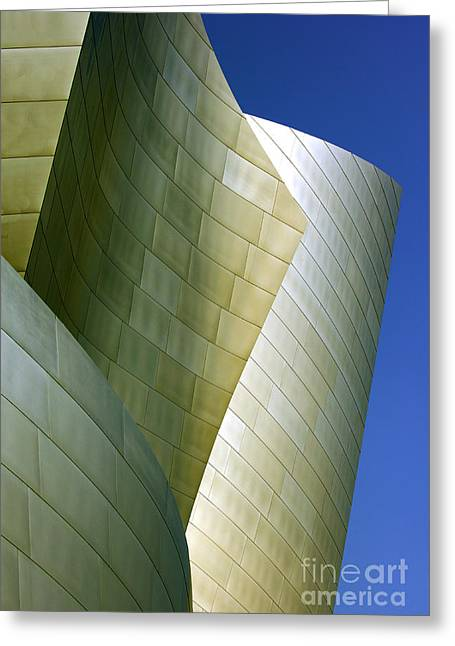 Metal Sheet Greeting Cards - Disney Concert Hall 5 Greeting Card by Micah May