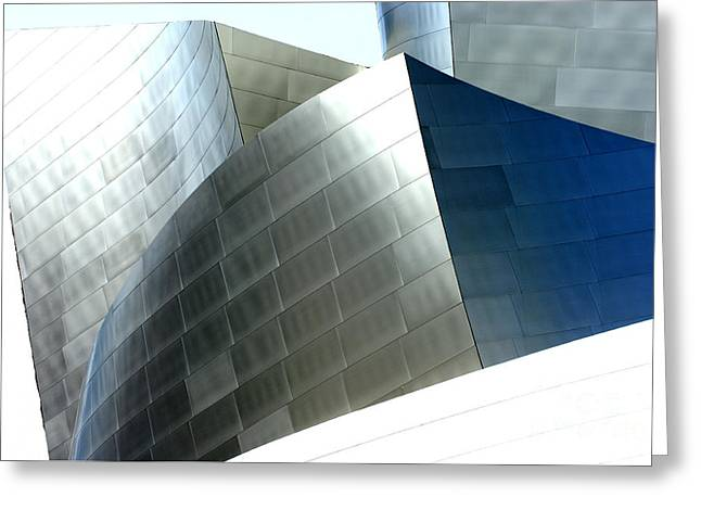 Metal Sheet Photographs Greeting Cards - Disney Concert Hall 9-1 Greeting Card by Micah May