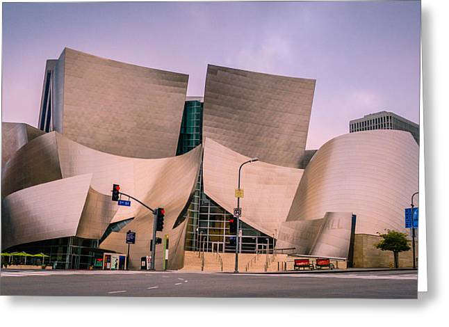 City Hall Pyrography Greeting Cards - Disney Concert Hall Greeting Card by Alexis Cruz