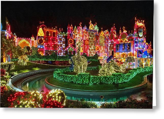 New Year Greeting Cards - Disney Land Christmas Greeting Card by Victor Gladkiy