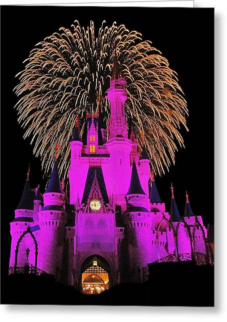 Walt Disney World Greeting Cards - Disney Magic Greeting Card by Benjamin Yeager