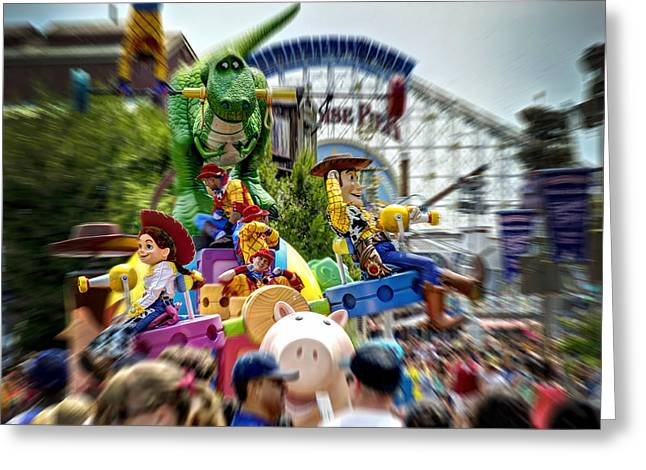 Paradise Pier Attraction Greeting Cards - Disney Parade Greeting Card by Ricky Barnard