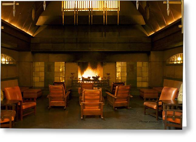Mickey Mantle Prints Greeting Cards - Disneyland Grand Californian Hotel Fireplace 04 Greeting Card by Thomas Woolworth