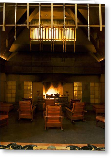 Mickey Mantle Prints Greeting Cards - Disneyland Grand Californian Hotel Fireplace 05 Greeting Card by Thomas Woolworth