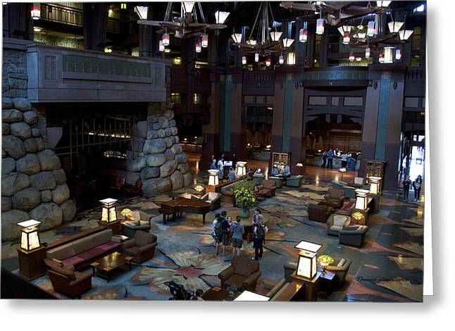 Mickey Mantle Prints Greeting Cards - Disneyland Grand Californian Hotel Lobby 01 Greeting Card by Thomas Woolworth