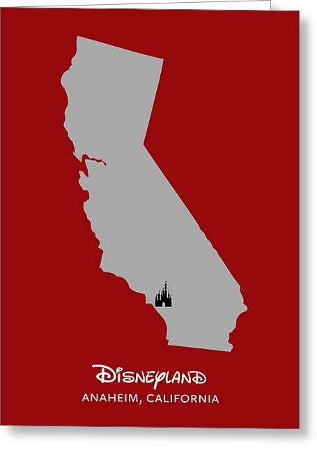 Anaheim California Greeting Cards - Disneyland Greeting Card by Nancy Ingersoll