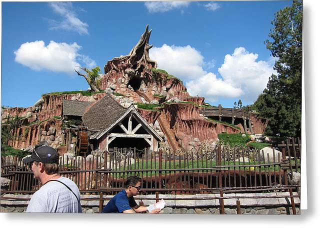 Disneyland Park Anaheim - 121218 Greeting Card by DC Photographer