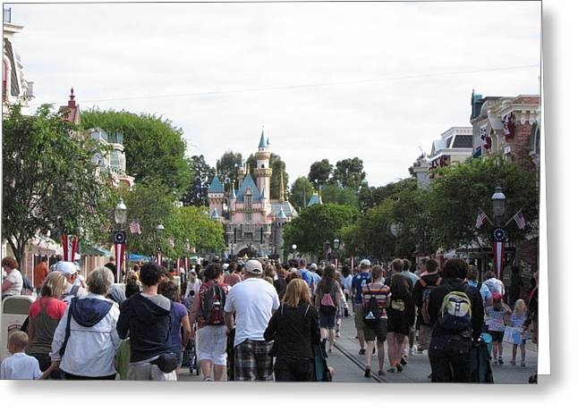Anaheim Greeting Cards - Disneyland Park Anaheim - 12122 Greeting Card by DC Photographer