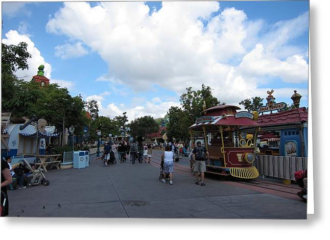 Anaheim Greeting Cards - Disneyland Park Anaheim - 121231 Greeting Card by DC Photographer