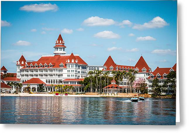 Walt Disney World Greeting Cards - Disneys Grand Floridian Resort and Spa Greeting Card by Sara Frank