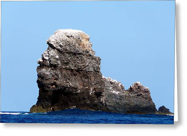 Wahoo Greeting Cards - Disolving Volcano - Alijos Rocks 5 Greeting Card by Alex Mobile