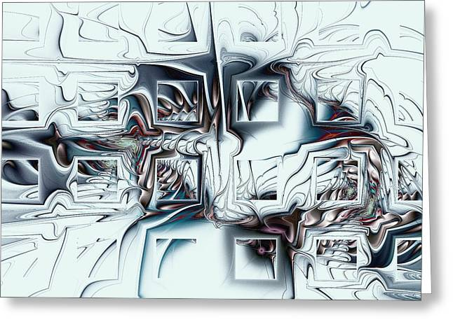 Disorganized Complexity Greeting Card by Anastasiya Malakhova