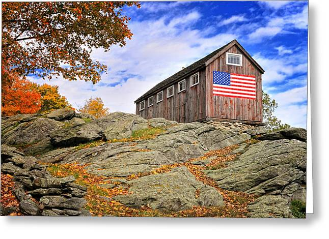 Ledge Greeting Cards - Display of Colors - Roxbury Barn  Greeting Card by Thomas Schoeller